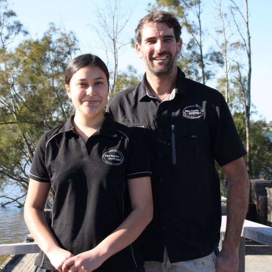 Bella & Ewan - Port Pearler Oysters web